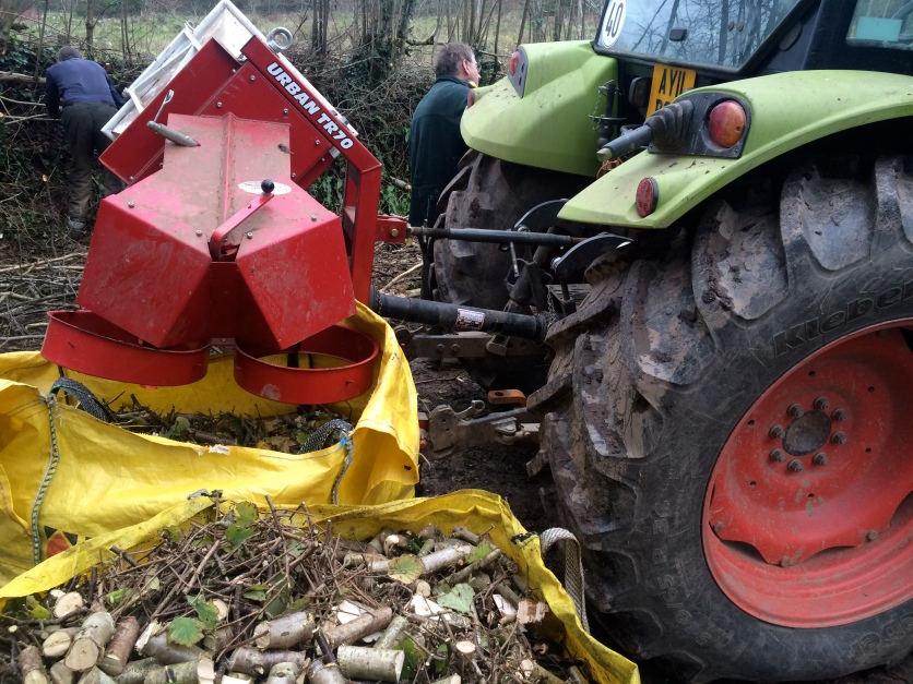 Tractor mounted brash chopper